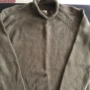 LLBean men's roll neck sweater
